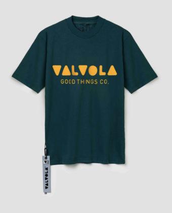 VALVOLA – T-SHIRT VERDE/ARANCIONE