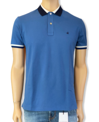 BROOKSFIELD POLO COLLO DOUBLE RIGATO