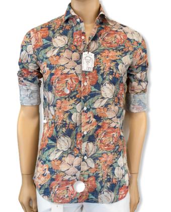 Camicia Collo francese Multicolor Tela