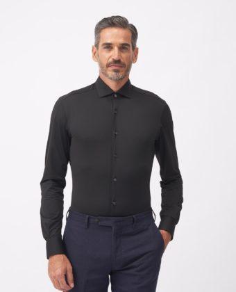 Camicia Collo francese piccolo Twill