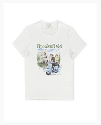 "BROOKSFIELD T-SHIRT ""STAMPA ROMA"""