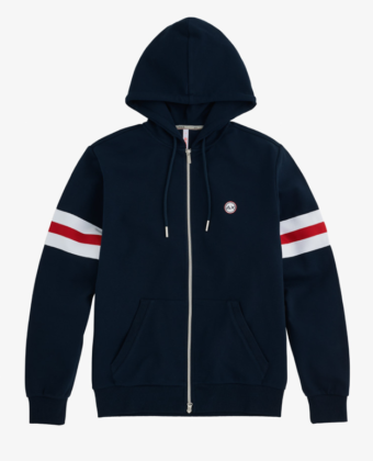 SUN68 – HOOD HERITAGE COTTON FL NAVY BLUE